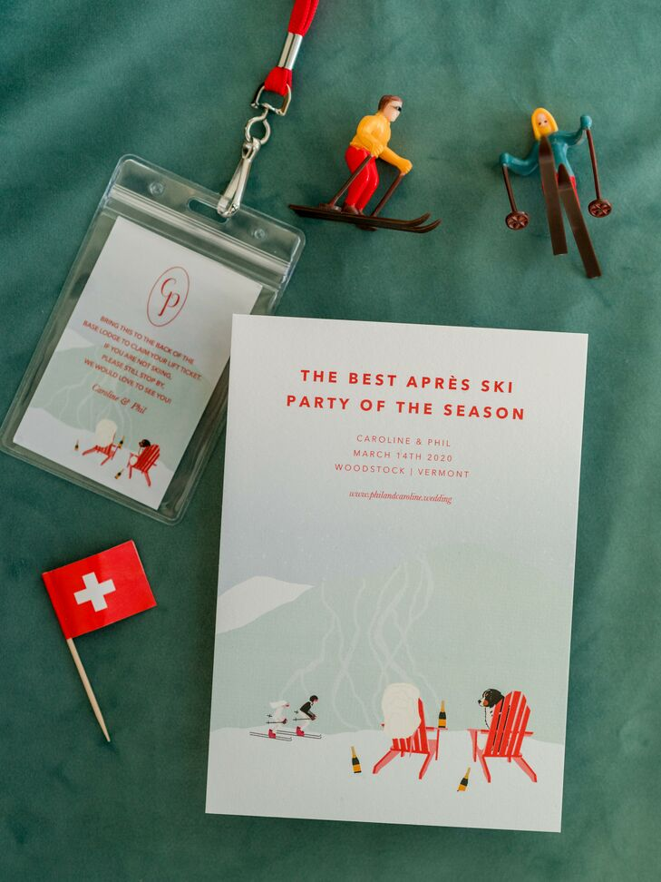 Welcome Party Ski-Themed Stationery for Woodstock, Vermont