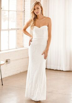 Lulus Your Magical Day White Sequin Strapless Mermaid Maxi Dress Mermaid Wedding Dress