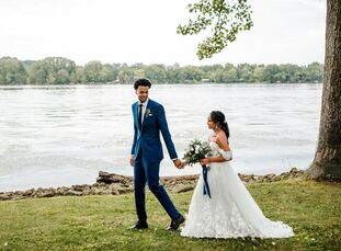 For their wedding at Cherokee Dock in Lebanon, Tennessee, Cassidy and Skal wanted a celebration that was rooted in their shared Christian faith and em
