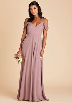 Birdy Grey Devin Convertible Dress in Dark Mauve V-Neck Bridesmaid Dress