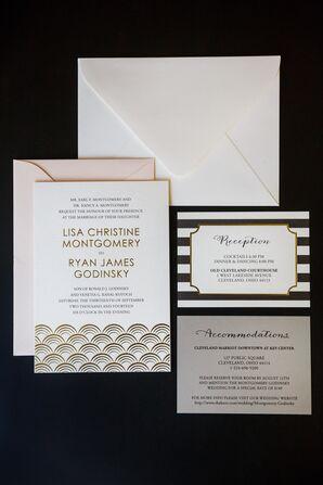 Black and White Art Deco Invitations