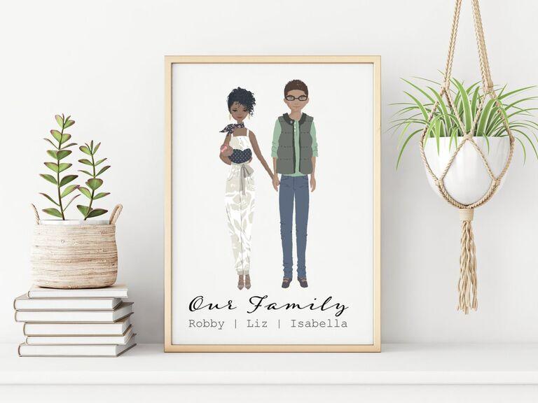 Custom couple illustration picture gift idea