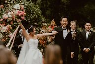 "Seres and Geoffrey wanted a wedding that was ""lush and whimsical. In other words, beautiful but not in a too serious kind of way, I wanted it to be a"