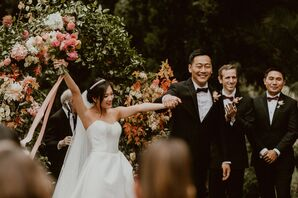 Wedding Recessional at Villa del Sol d'Oro in Sierra Madre, California