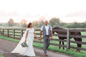 Couple at Rustic Sterlingbrook Farm in New Jersey