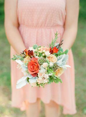 Peach Bridesmaids Bouquets