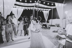 Beach Dance Floor With String Lights