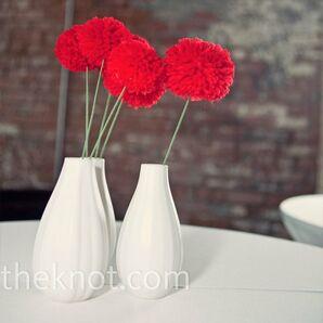 Yarn Flower Centerpieces