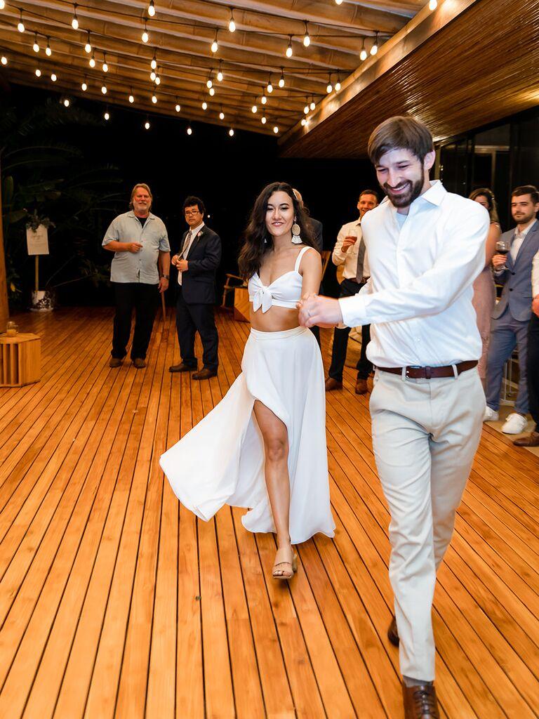 Eco-friendly wedding reception dress