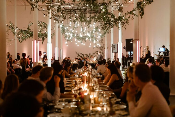 Candlelit Wedding Reception at Sound River Studios in Long Island City, New York