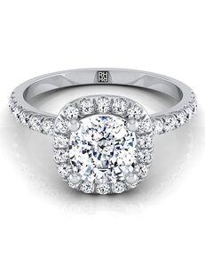RockHer Unique Cushion Cut Engagement Ring