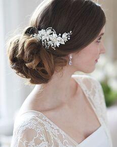 Dareth Colburn Charlotte Floral Comb (TC-2288) Gold, Champagne Pins, Combs + Clip