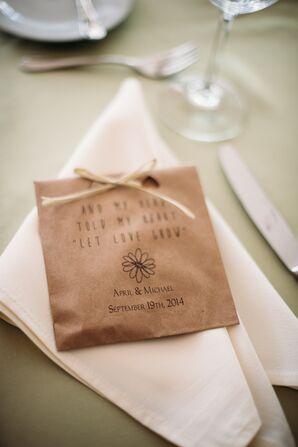 Wildflower Seed Bombs Wedding Favor
