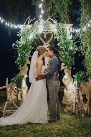 Heart-Shaped Twig Wedding Arch
