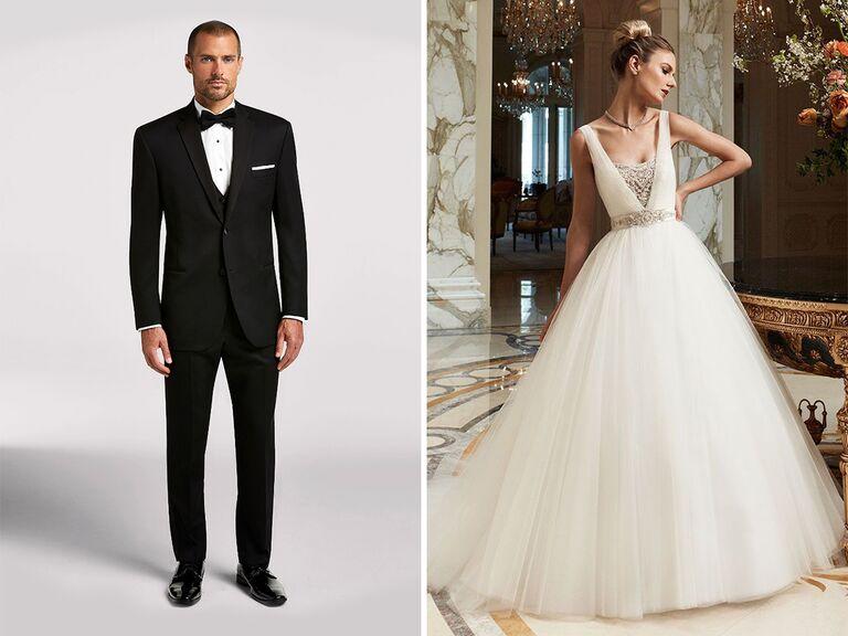 2293a5f19f6eb formal ballroom wedding dress and tuxedo