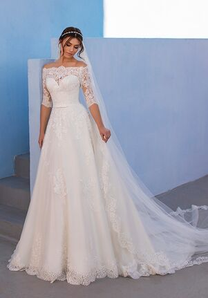 WHITE ONE OSSA A-Line Wedding Dress