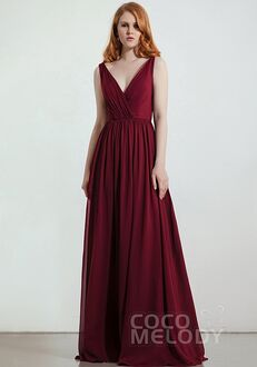 CocoMelody Bridesmaid Dresses RB0332 V-Neck Bridesmaid Dress