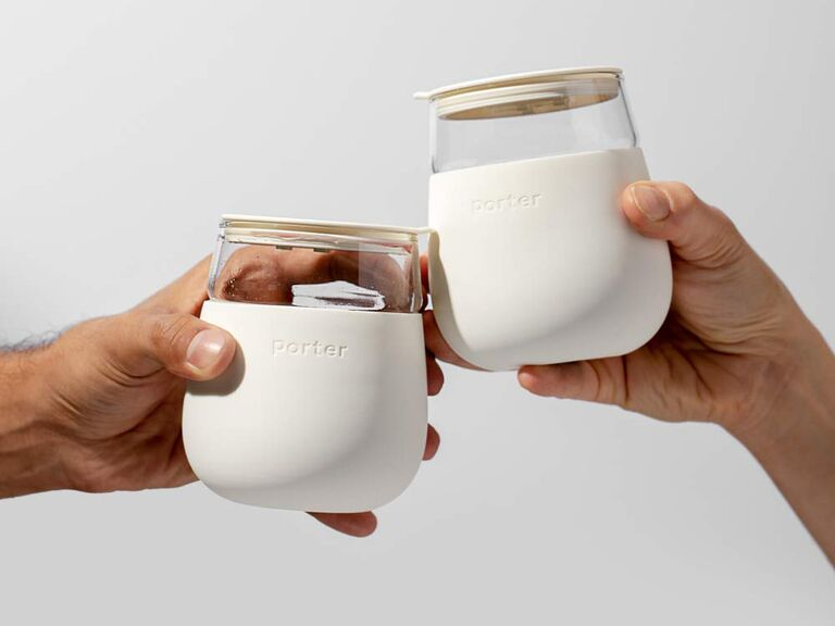 Portable wine glass bridal shower gift idea