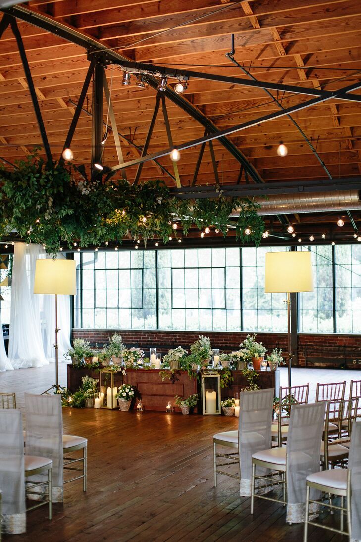 Potted Plants and Garlands Decor