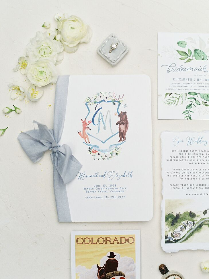 Whimsical Invitations with Monogram and Watercolor