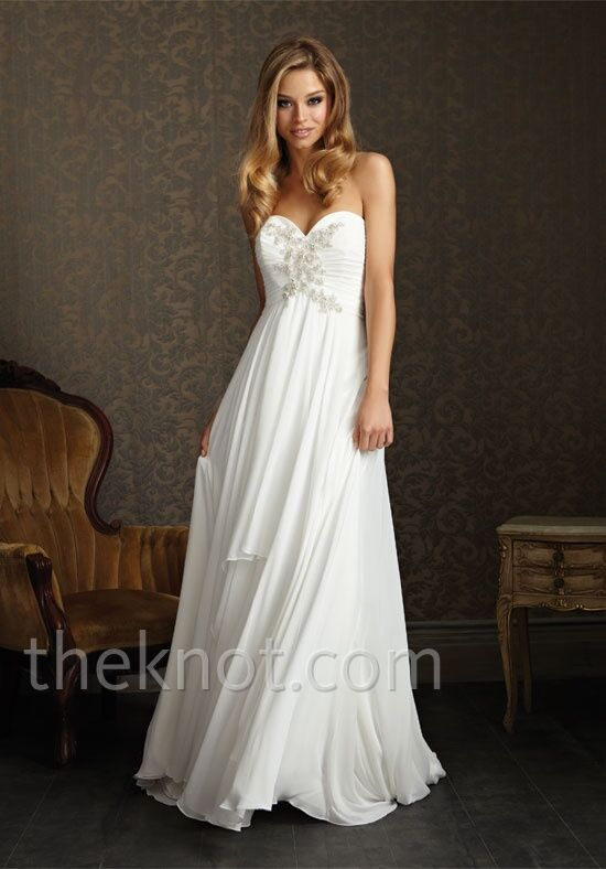 Allure romance 2504 wedding dress the knot for Wedding registry the knot