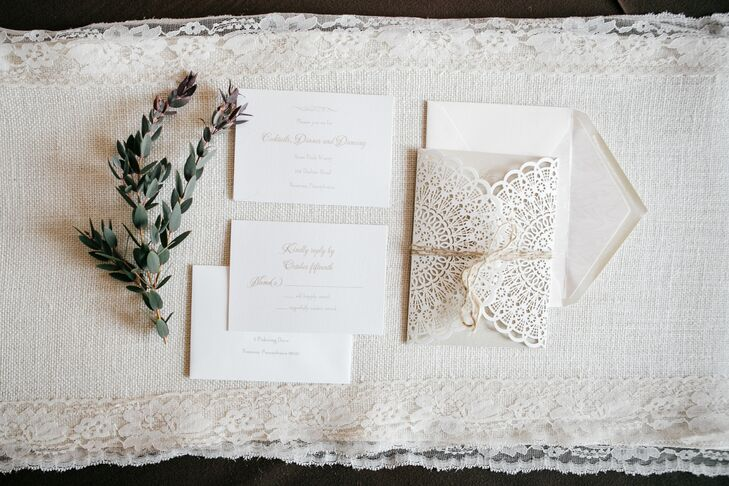 Elegant Invitation Suite With Lacelike Details