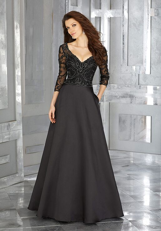 MGNY 71607 Black Mother Of The Bride Dress