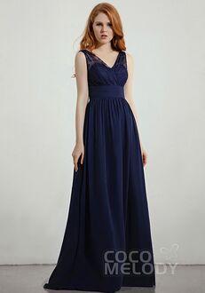 CocoMelody Bridesmaid Dresses RB0304 V-Neck Bridesmaid Dress