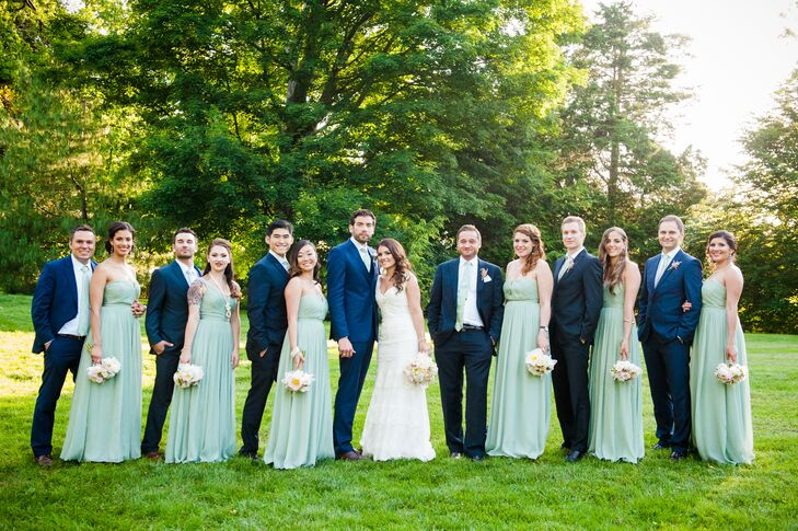 651e6af1a6e Navy and Mint Green Wedding Party