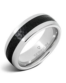 Serinium® Collection Cobblestone — Black Ceramic Serinium® Ring-RMSA002205 Serinium® Wedding Ring