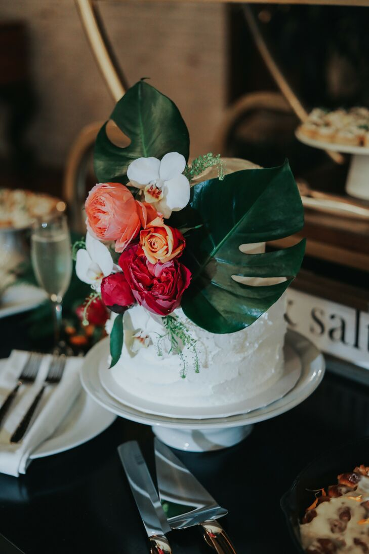 Tropical Cake for Wedding at Ebell Long Beach in California