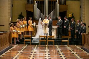 The Bride and Groom Taking their Traditional Catholic Vows