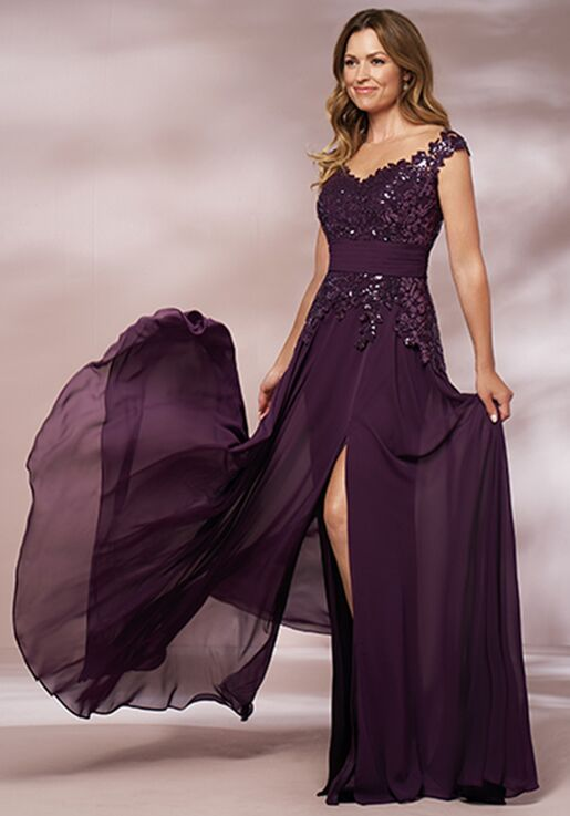 purple mother of the bride dresses