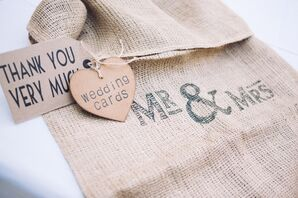 Rustic Homespun Wedding Card Bag