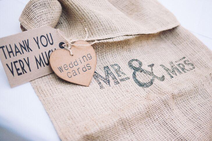 Rustic Homespun Wedding Card Bag