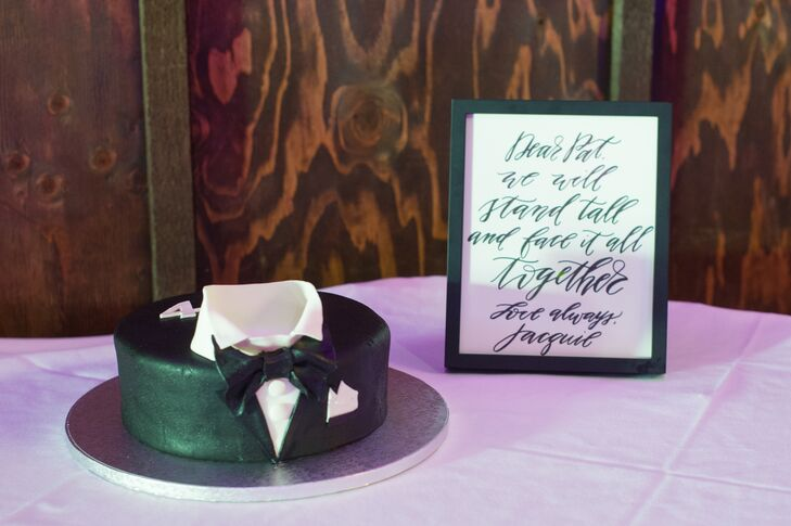Palermo Bakery made Patrick a custom James Bond groom's cake--he's a big fan of the films!
