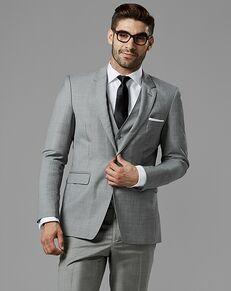 Generation Tux Gray Sharkskin Notch Lapel Suit Gray Tuxedo