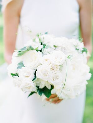 Classic Bouquet of White Roses