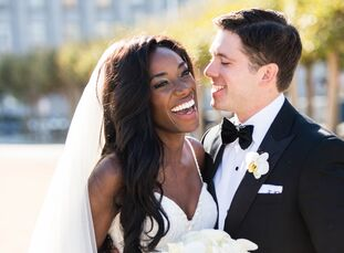 Together since college, Bay Area native Beth Fatusi (31 and an account executive) and Eric Reidel (31 and a law associate) threw a glamorous fete in S