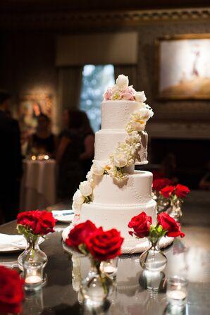 Four Tier Elegant Rose Decorated Cake
