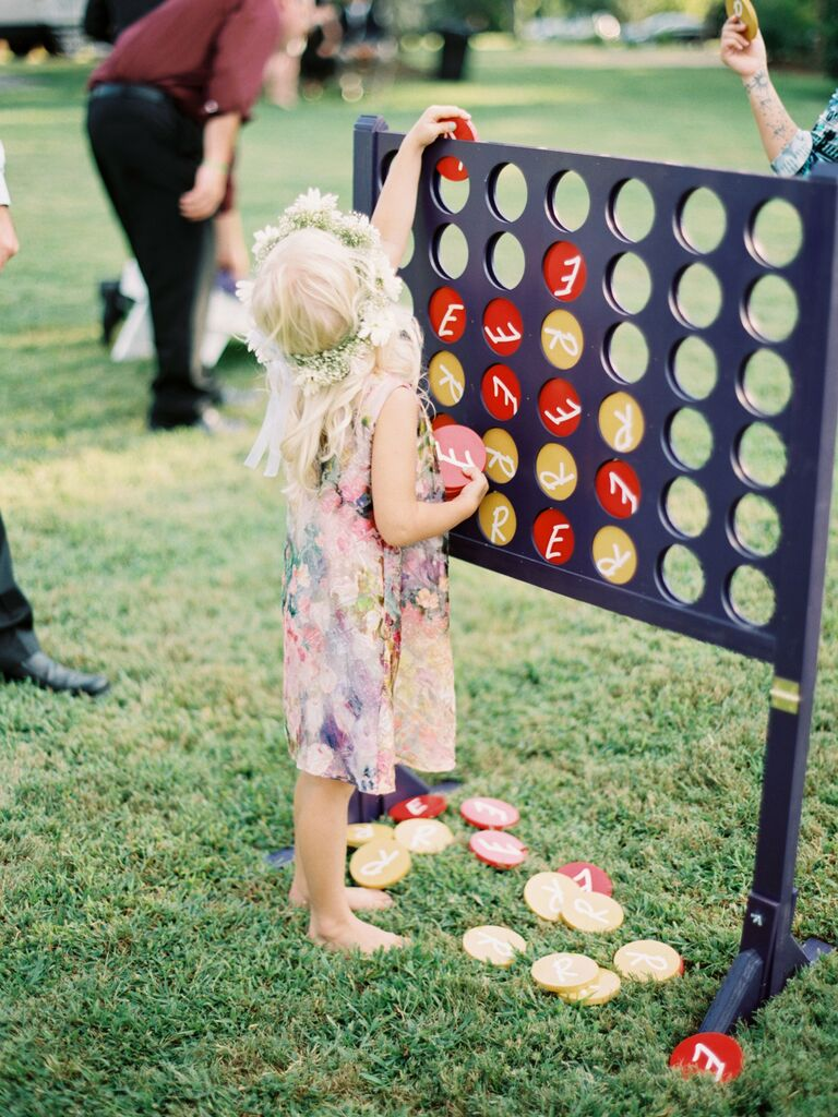 Backyard engagement party game