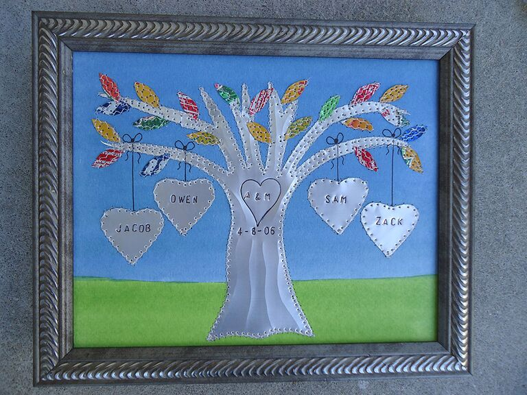 End Aluminum Family Tree 10 Year Anniversary Gift