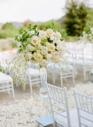 Overflowing Ivory Floral Ceremony Arrangements