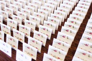 Floral-Themed Escort Cards