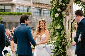 Romantic Outdoor Ceremony at Gurney's Montauk Resort in New York
