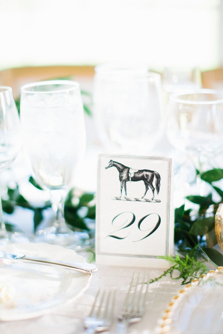 Vintage Horse Table Number