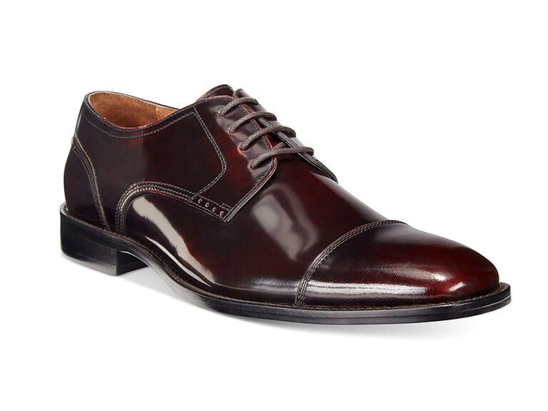 Johnston & Murphy Knowland Cap-Toe Oxfords black suit brown shoes