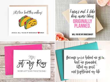 Will you be my bridesmaid proposal cards