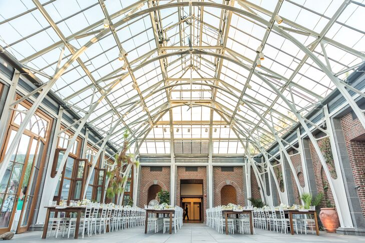 Tower Hill Botanic Garden Orangerie Wedding Reception
