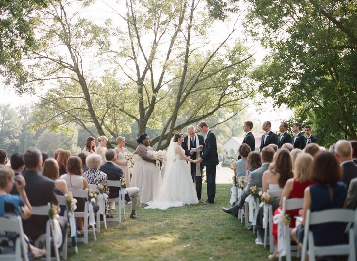 Katie and Teddy Intimate Outdoor Ceremony in Missouri